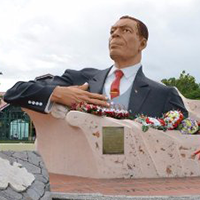 National monument of Antigua and Barbuda - VC Bird Monument