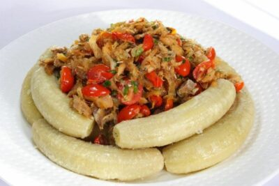 National Dish of St Lucia - Green fig and saltfish