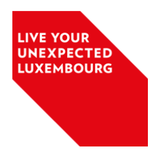 Tourism slogan of Luxembourg - Live Your Unexpected Luxembourg
