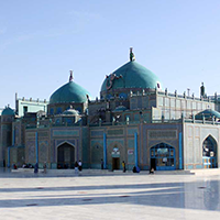 National monument of Afghanistan - The Blue Mosque